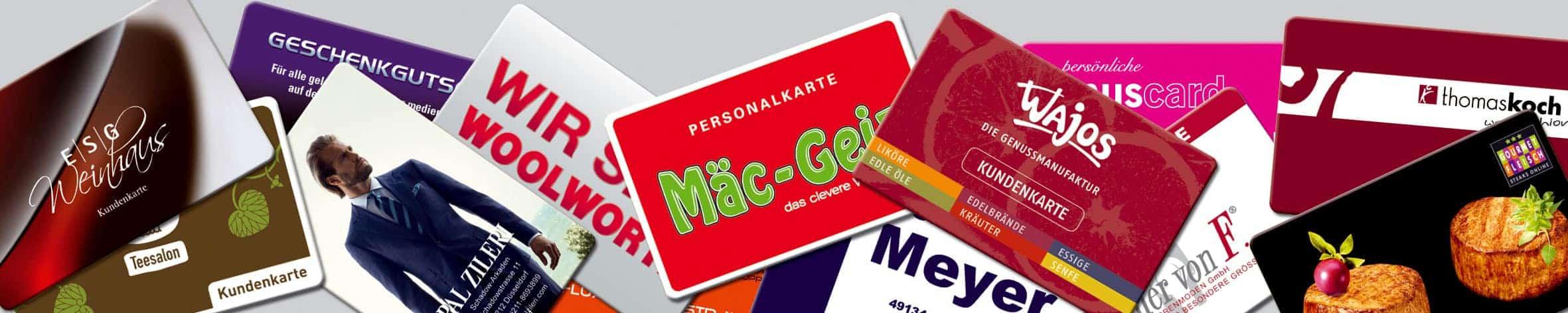 Kunden- und Bonuskarten
