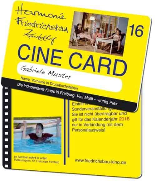 Plastikkarten für Kinos Friedrichsbau
