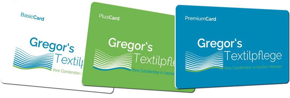 Plastikkarten für Textilreinigungen verschiedene Sorten
