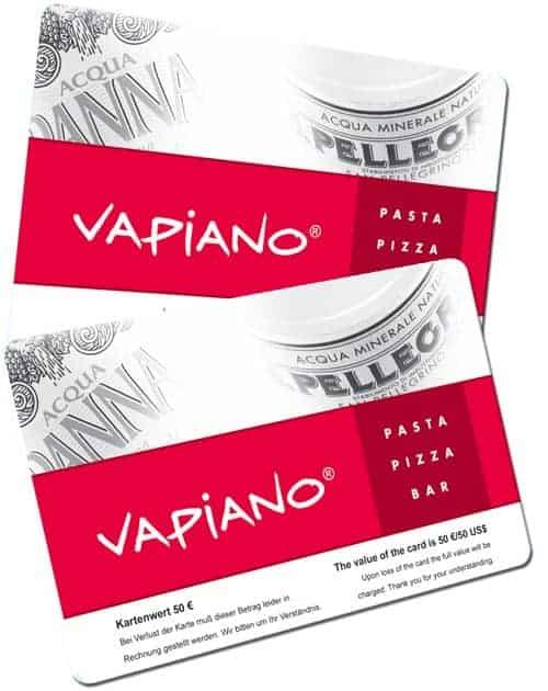 Plastikkarten für Wiederverkäufer Vapiano