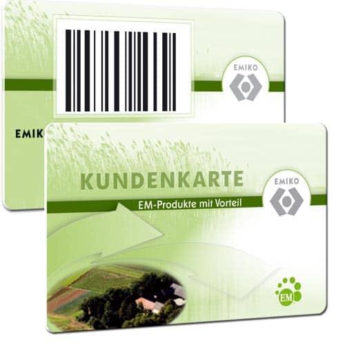 Plastikkarten für Wiederverkäufer Emiko
