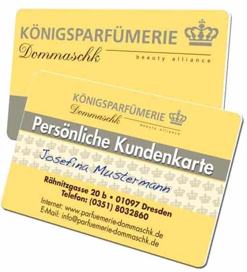 Plastikkarten mit Unterschriftenfeld Dommaschk