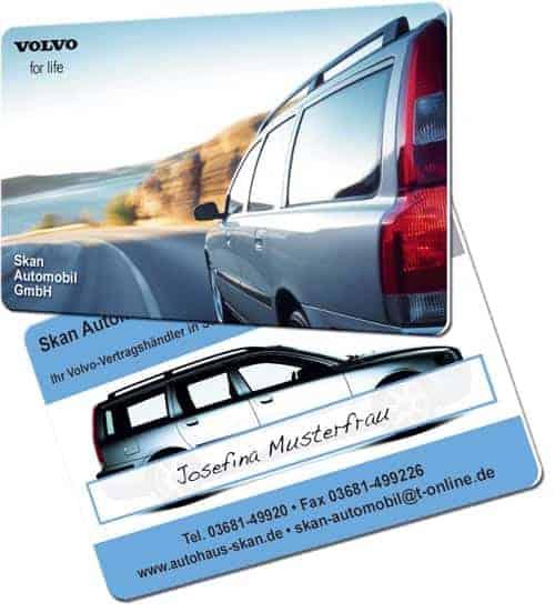 Plastikkarten Volvo