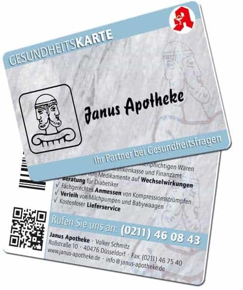 QR-Code Karten Janus Apotheke