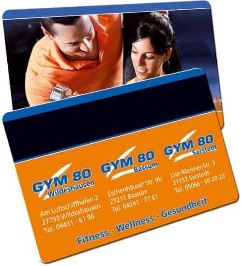 Fitnesskarten gym80