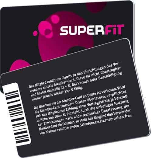 Fitnesskarten superfit