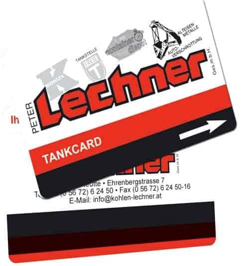 Tankkarten drucken Lechner