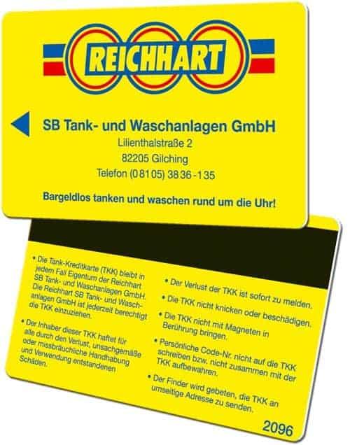 Tankkarten drucken Reichhart