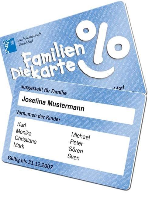 Ausweiskarten drucken Familienkarte