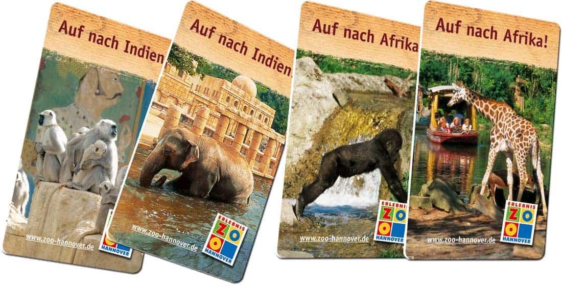 Dauerkarten drucken Zoo Hannover