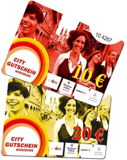 Citycards drucken Würzburg