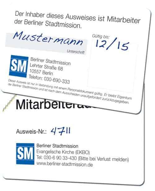 Mitarbeiterausweise Berliner Stadtmission