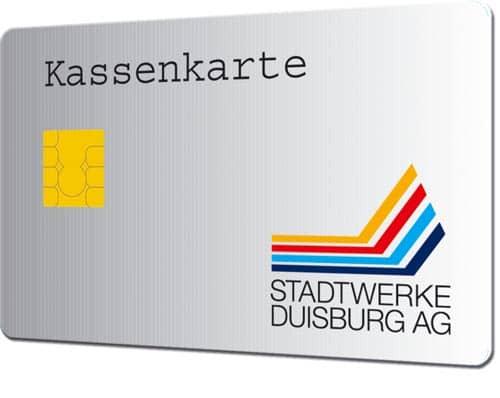 Smart-Cards drucken Kassenkarte Stadtwerke Duisburg