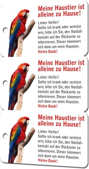 Notfallkarten Haustiere 3er Set