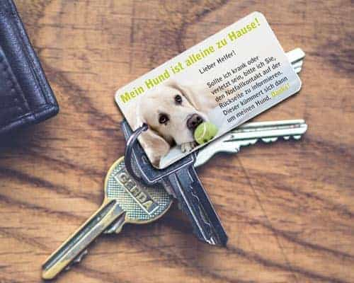 Notfallkarten Hunde Schlüsselanhänger