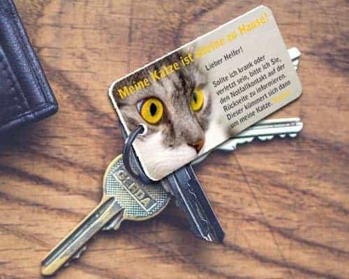 Notfallkarten Katzen Schlüsselanhänger