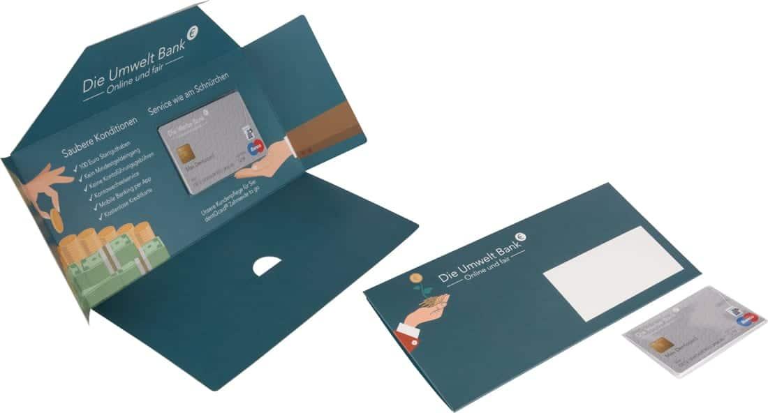 Dentocard Karte mit Zahnseide Mailing