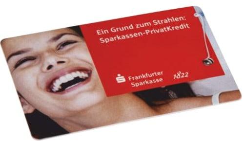 Dentocard Karte mit Zahnseide Sparkasse